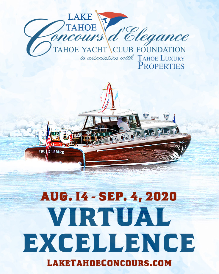 You're Invited to Enter Your Boat into the  2020 Virtual Lake Tahoe Concours d'Elegance